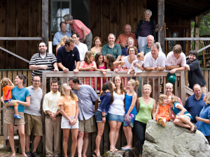Family reunion at Rockywold-Deephaven Camps.