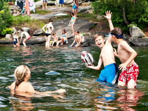 Swimming at Rockywold-Deephaven Camps.