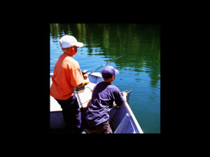 Fishing at Pine Lodge Cabins & Suites.