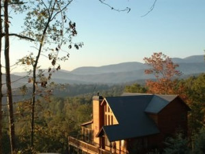 Cabin Overlooking Mountains at JP Ridgeland Cabin Rentals