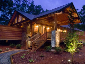 Cabin exterior at Watershed Cabins.