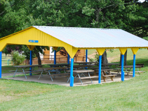 Picnic pavilion at Lake Ridge Resort.