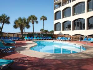 Outdoor pool at Beach Cove Resort.