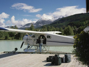 Plane ride near Four Seasons Resort Whistler.