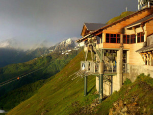 Exterior view of Alyeska Resort.