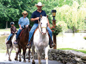 Horseback riding at Rocking Horse Ranch Resort.