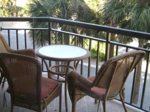 Unit porch at Gulf Strand Resort.