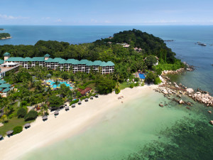 Aerial view of Angsana Resort & Spa Bintan.