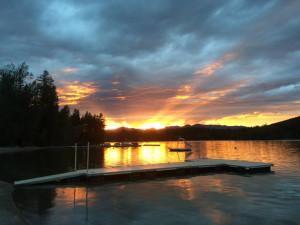 Sunset at Lake Five Resort.