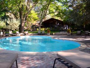 Outdoor pool at Rankin Ranch.  Heated May-September.