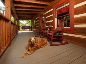 Rental porch at Smoky Mountain Resort Lodging and Conference Center.