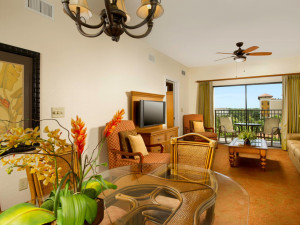 Suite living room at Floridays Resort Orlando.