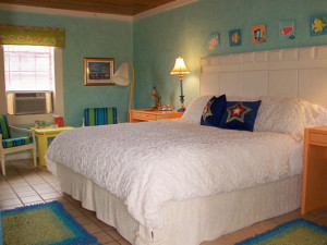 Guest room at Wisteria Inn.