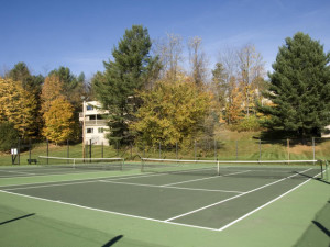 Tennis court view at Mountainside Resort.