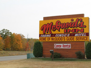 McQuoid's Inn & Event Center sign.