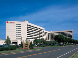 Exterior view of Long Island Marriott Hotel & Conference Center.