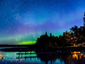 Northern lights at Bear Paw Resort.