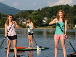 Paddle boarding at Terrace Hotel Lake Junaluska.