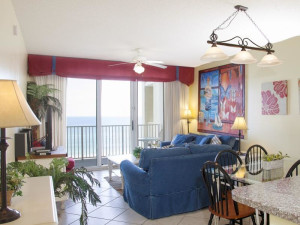Rental living room at Seascape Resort.