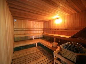 Dry cedar sauna at Edelweiss Lodge.