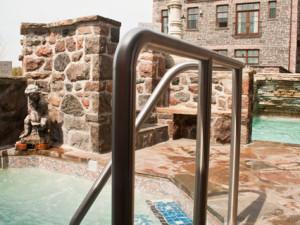 Hot tub at Ste. Anne's Spa.