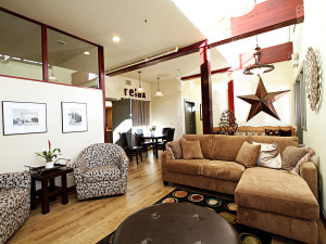 Lounge at Greenhorn Creek Resort.