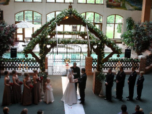 Wedding Ceremony at Bavarian Inn of Frankenmuth