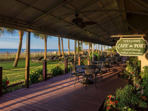 Patio at Ocean Reef Resort.