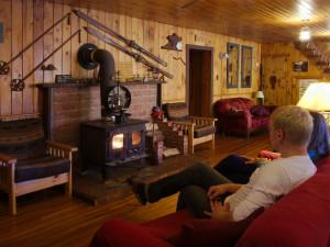 Lodge interior at Algonquin Eco-Lodge.
