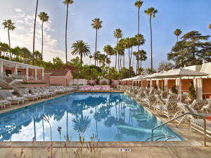 Outdoor pool at The Beverly Hills Hotel.