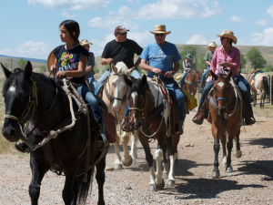 Horseback riding at Vee-Bar Guest Ranch.