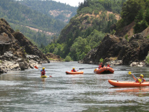 Kayaking at Morrison's Rogue River Lodge.