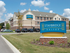 Exterior view of Staybridge Suites Stow.