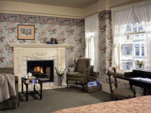 Guest room at Petite Auberge.