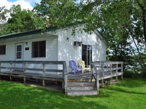 Cabin exterior at Paul Bunyan Resort.
