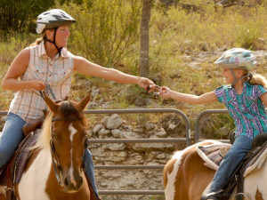 Mother and Daughter Riding at Sugar & Spice Ranch
