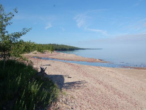 Beach Overlooking Lake Superior at Eagle River Inn.