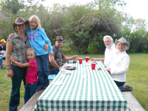 Family dining at Vee-Bar Guest Ranch.