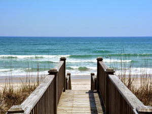 Walk way to beach at Topsail Realty.