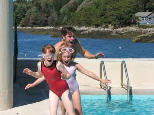 Outdoor pool at Sebasco Harbor Resort.