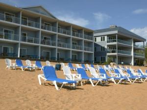 The beach at Grand Beach/Sugar Beach Resort Hotel.