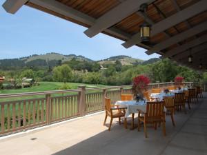 Patio view at Quail Lodge Resort.