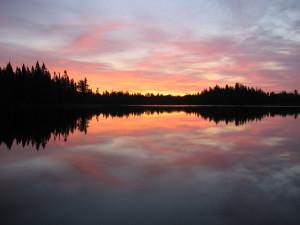 Sunset at Norway Beach Resort.