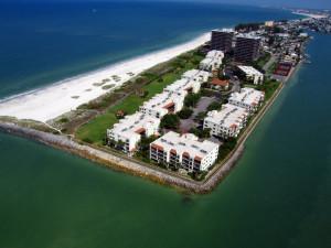 Aerial view of Resort Rentals.