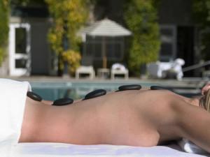 Hot stone massage at Inn at Southbridge.