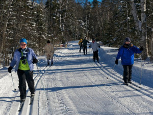 Cross country skiing at Bluefin Bay on Lake Superior.