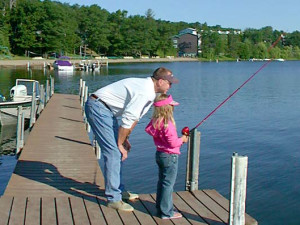 Fishing at Cragun's Resort.