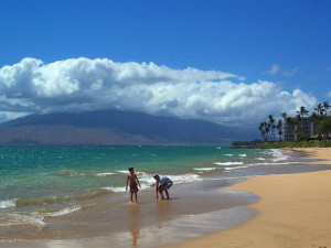 The beach at Maui Vacation Rentals.