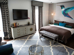 Guest room at The Crescent.