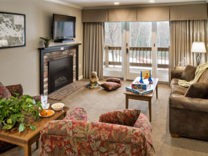 Guest living room at Summit Resort.